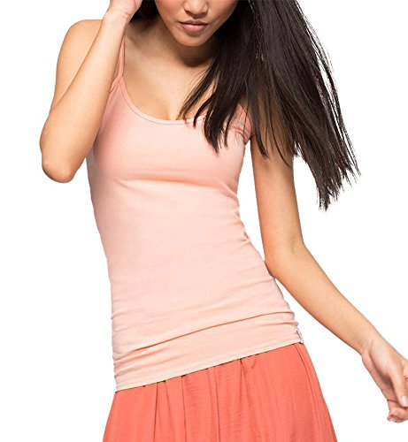 edc by Esprit Basic Camiseta sin Mangas, Naranja (Salmon 860), M (Talla del Fabricante: L) para Mujer