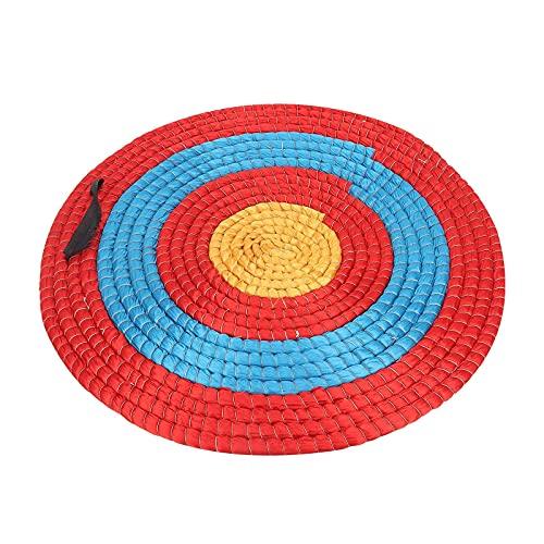 Yuema 48,1 cm solides Stroh-Schieß-Zielscheibe für Outdoor-Sport, Bogenschießen, Bogenschießen (1 Ebene)
