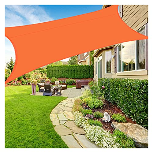 AMSXNOO Vela De Sombra, 98% De Protección UV Impermeable a Prueba De Viento Vela Toldo, Rectangular Toldos Exterior por Patio Interior Invernadero Cámping (Color : Orange, Size : 2X2M)