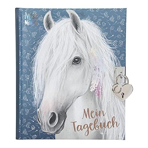 Depesche 11483 Miss Melody - Tagebuch mit Schloss und traumhaftem Pferde-Motiv, 192 linierte und illustrierte Seiten für Eintragungen, inkl. Stickern zum Verzieren, ca. 19 x 16 x 2,3 cm