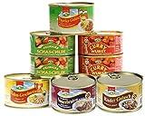 6er Set Currywurst, Paprikagulasch & Co., 2,8 kg mit 6 Sorten Fertiggerichte Konserven Lebensmittelvorrat