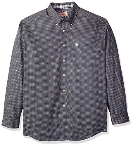 ARIAT Herren Wrinkle Free Long Sleeve Button Down Shirt Hemd, Uffner Teal Extreme, Klein