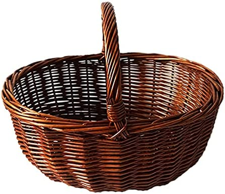 AQHXLS Deluxe ! Super beauty product restock quality top! Rustic Picnic Basket Hand-held Woven Storage Wicker Bask