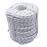 TINVHY 3/8 Inch x 200 Feet 4800Lbs Double Braid Polyester Rope Breaking Strength Strong Pulling Rope
