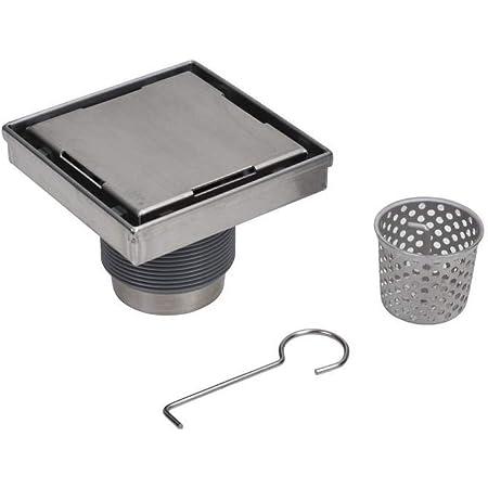 "Oatey DSS1060R2 Designline 6"" x 6"" Square Drain, DIY Tile-in Shower Floor Drain-304, 6"" x 6"", 304 Grade Stainless Steel"