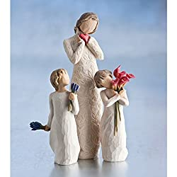 Willow Tree Je t'aime Figurine (Height 21cm, Ref: 26231) Willow Tree Lavender Grace Figurine (Height 17cm, Ref: 26465) Willow Tree Bloom Figurine (Height 14cm, Ref: 27159)