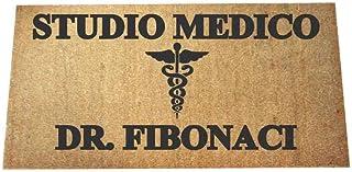Zerbino Personalizzato - Studio Medico - uso interno, in cocco naturale cm. 100x50x2 LOVEDOORMAT Marchio Registrato Handma...