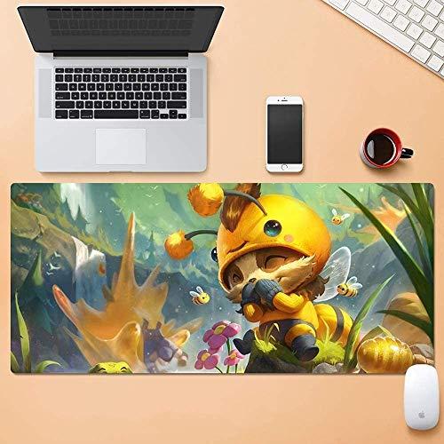 Mopoq LOL Teemo Bee Game - Dicke Anti-Rutsch-Mauspad Große Tastatur Auflage-waschbare Silikon-Computer-Schreibtisch-Mat Million Bandit (Color : 900 * 300mm, Größe : 4mm)