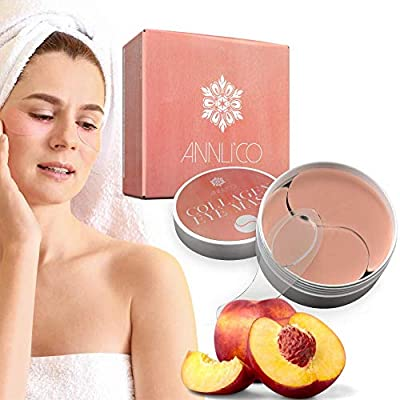 Annli'Co Collagen Eye Mask with Peach Extract 30Pairs 100% Vegan-Cruelty Free- Effectively eliminate Edema Eye Bag,Dark Circles,Wrinkles and Fine Lines-with Hyaluronic Acid-Anti Ageing. from Annli'Co LTD