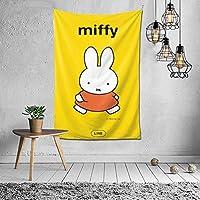 Miffy タペストリー インテリア 壁掛け おしゃれ 室内装飾 多機能 寝室 カーテン おしゃれ 個性ギフト 新築祝い 結婚祝い プレゼント ウォール アート(60in*40in)