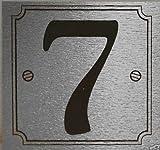 eCobbler Silver Stick On Door Numbers - Number 7