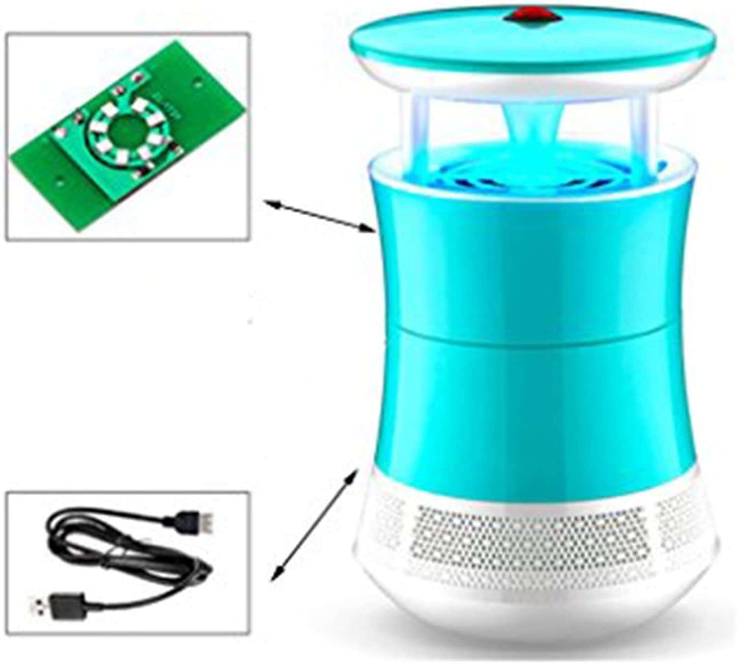 Indoor Mosquito Killing Lamp Insect Killer,Electronic LED Ultrapurple Light Bug Zapper Photocatalyst UV Mosquito Trap Killer for Indoor Home Office Use,A