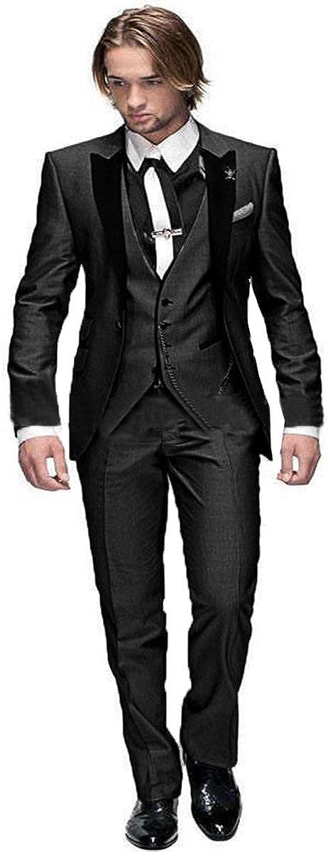 RONGKIM Wedding Suit Max 75% OFF for Men Slim Fit 3 favorite L Notch Button Piece One