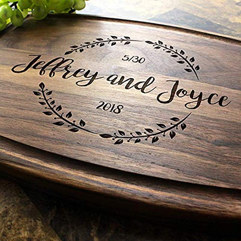 Personalized Cutting Board Arched Custom Keepsake Engraved Serving Cheese Plate Wedding Anniversary Engagement Housewarming Birthday Corporate Closing Gift 023