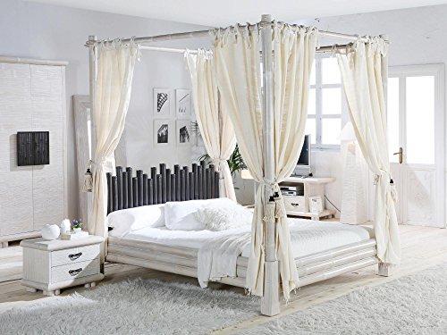 Möbel Bressmer Cabana Himmelbett weiß-Liegefläche 200 x 200
