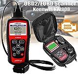 KW808 escaner Diagnosis Coche OBD2 OBDII Can Bus Auto MULTIMARCA ms509