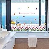 SHIFTALT Desmontable Tulip Butterfly Flying Baseboard Vinilo Pegatinas De Pared Decoración Para El Hogar Niños Faldones Sala De Estar Dormitorio Mural Tatuajes De Arte