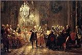 Poster 30 x 20 cm: Flötenkonzert von Adolph von Menzel -