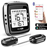 POVO Wireless BBQ Thermometer Digital Meat Thermometer with 2 Stainless Probes Remote Monitor for...