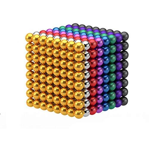 JGSDHIEU Magic Ball für Tafel, Magic Building Toys, Kreative Metallkugeln Cube Desk Dekompressionsspielzeug für Travel Entertainment Stress Relie (512Pcs 3mm)