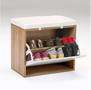Kit Closet Banco Zapatero, Cerezo y Blanco