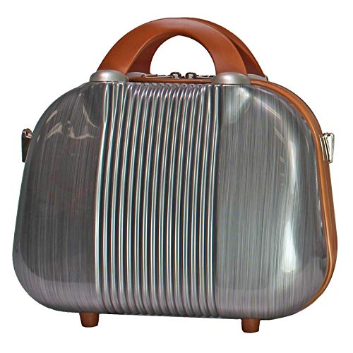 World Traveler Classique 13-Inch Cosmetic Case Shoulder Tote, Silver, One_Size