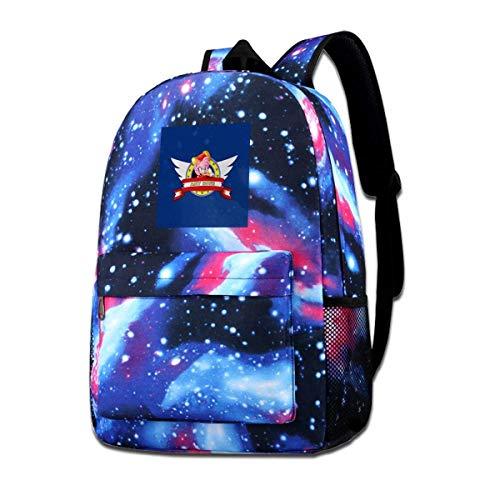 Warm-Breeze Galaxy Impreso Hombros Bolsa Soinc The Hedgehog Amy Rose Banner Moda Casual Star Sky Mochila para niños y niñas
