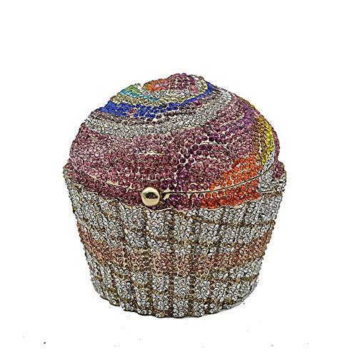 Diseño único: fácil de capturar todos los ojos de su entorno. Con este bolso de mano de cristal, usted es el centro de atención del público y la reina de la fiesta y la boda. Stotage: este bolso de noche tiene un bolsillo, pero tiene suficiente espac...