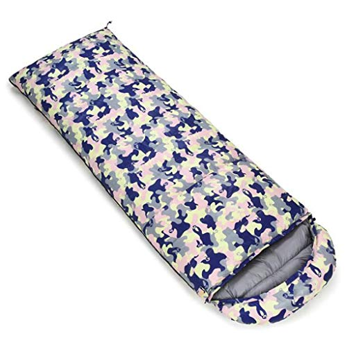DAFREW Sac de Couchage d'enveloppe, Sac de Couchage extérieur Quatre Saisons avec Sac de Compression (Couleur : Camouflage 2, Taille : 1 kg)