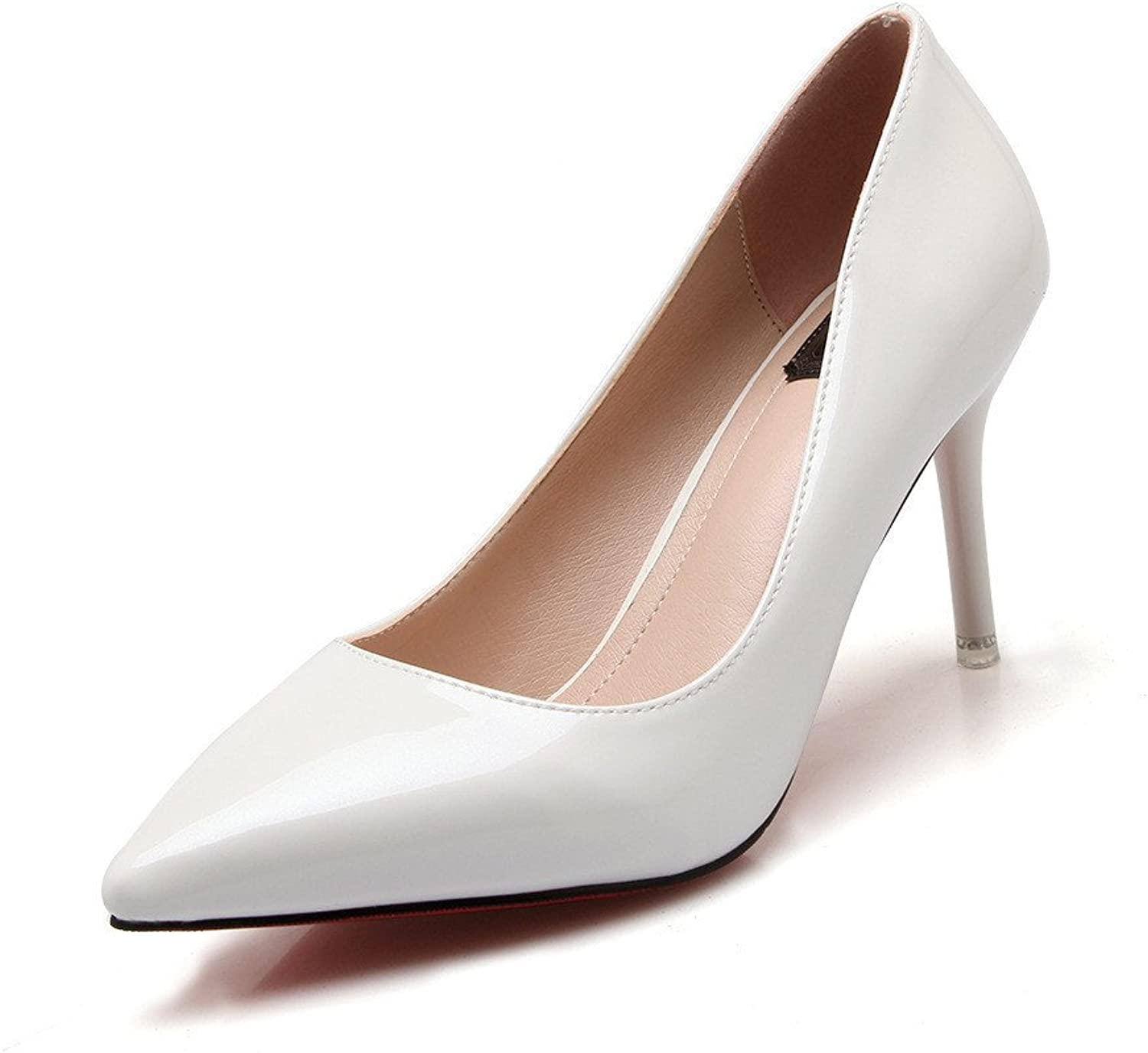 shoesmaker's heart The New Trend of New shoes shoes shoes High Heels Shallow Mouth with Fine Pointed Leather Solid Work
