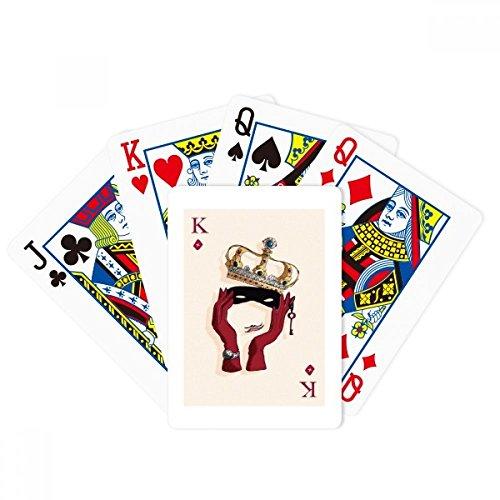 Juego de cartas de juego de cartas de diamante K patrón de póquer juego de mesa mágica divertido