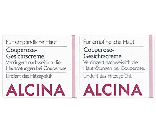 2er S Couperose Gesichtscreme Pflegende Kosmetik Alcina Verringert nachweislich die Hautrötungen bei Couperose je 50 ml = 100 ml