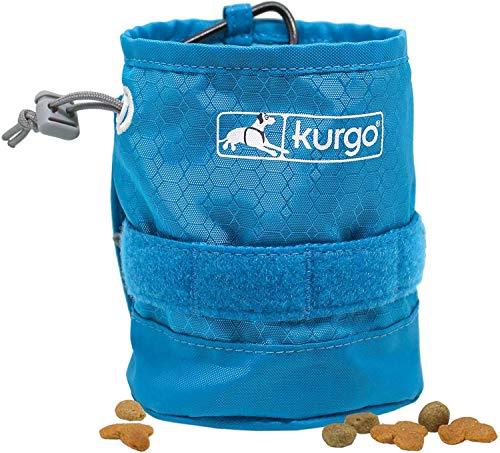 Kurgo YORM Leckerlibeutel für Hunde, Futterbeutel für Hund, Kurgo RSG und MOLLE kompatibel, Zubehör für RSG Hundegeschirr und Kurgo RSG Hundeleine, Inklusive Karabiner und Kordelzugverschluss, blau