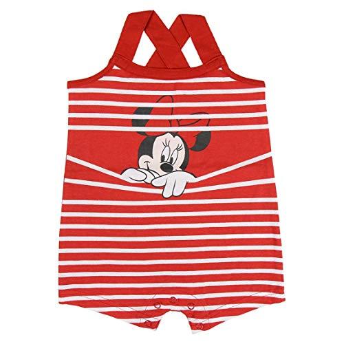 Cerdá Bebe Niña de Disney Minnie Mouse-100% Algodon Pelele, Rojo, 12 Meses para Bebés