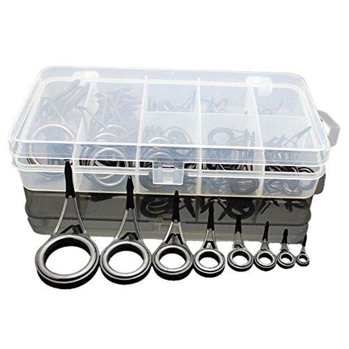 Rutenringe-Set, verschiedene Größen, Reparatur-Set, für Angelrute, Angeln, 75-teiliges Set