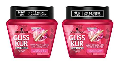 Schwarzkopf Gliss–Ultimate Color anti-damage Tratamiento Mack con líquido queratina 2er Pack (2x 300ml/10.14FL OZ)