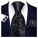 YSJJOSX Corbata para Hombre 8.5cm Men Silk Atazo Floral Red Blue Neckties para Hombres Classic Party Body Bods Pocket Square Gemelos Luxury Lazo Set (Color : SN 3346)