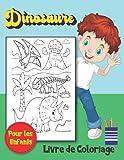 Dinosaure Livre de Coloriage Pour les Enfants: Le Grand Livre De Coloraige Sur Les DINOSAURES / 50 Dessins de Dinosaures pour Garçons et Filles de 4 à ... / 50 illustarion amusants à colorier .