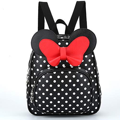 Dizie Schultasche für Kinder, kleine Prinzessin, Boww, Kindergarten Baby, Mickey, Rucksack für kleine Mädchen, Rucksack (schwarz)
