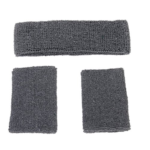 DOITOOL Juego de pulsera de algodón elástico para deportes al aire libre (gris)