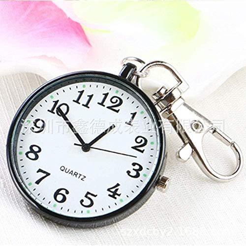 LLGG Prendedor De Broche Reloj De Bolsillo,Reloj de Bolsillo de Cuarzo Digital, Reloj de Bolsillo con Llavero de Collar,Reloj MéDico