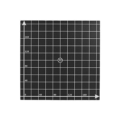 Aibecy - Lámina adhesiva para cama de calor, superficie de construcción con coordinadas 1:1 para impresora 3D (220 x 220 mm), A6, A8 220mm x 220mm