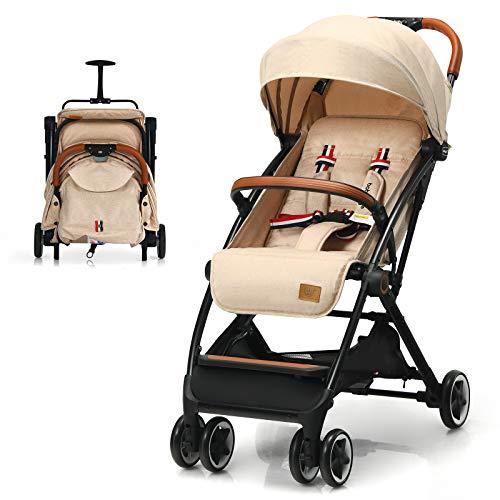 BABY JOY Lightweight Baby Stroller, Compact Toddler Travel Stroller for Airplane, Infant Stroller w/...