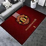 Lupovin Alfombras de área del Equipo de fútbol Europeo F-12 Manchester United F.C. Alfombra temática Alfombra Antideslizante para Sala de Estar Alfombra Creativa Ventiladores Decoración del hogar