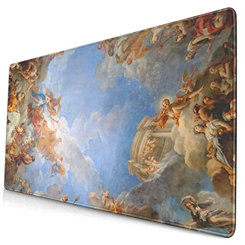 Fresco of Angels in The Palace of Versailles Gaming Mouse Pad Non-Slip Rubber Keyboard Mousepad for Office Home (40x75cm)