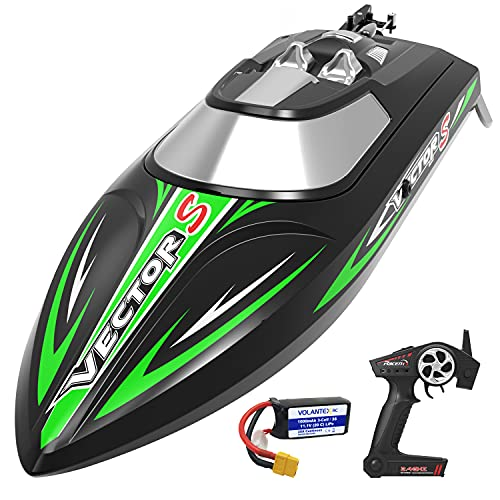 VOLANTEXRC RC Boat for Kids and Adults High-Speed Remote Control Boat with Self-Righting & Reverse Function for Pool & Lake RC Boats Water Toy Gifts for Boys and Girls (797-4 Brushless)