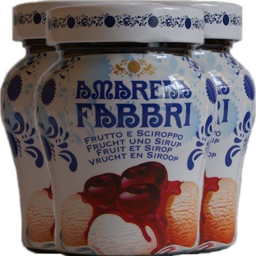 3x Fabbri Amarena Kirschen in Siurp 'Amarena Fabbri', 230 g