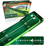 4.25 Inches Infinity Putting Mat | Portable Mat with Auto Ball Return Function | Golf High-Tech Carpet with Track Visibility, Zero Bumps and Creases | Mini Golf Practice Training Aid