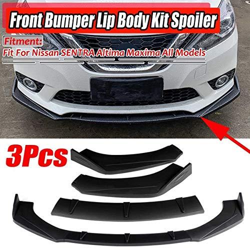 XIANGSHAN 3pcs Universal Car Frontstoßstange Splitter Spoilerlippe Diffuser Lip for Nissan Sentra Altima Maxima 300Z 350Z 370Z Skyline R33 GTR