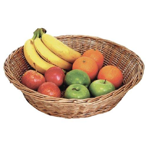 Présentoir De Comptoir Panier 120 x 420 mm en osier naturel Panier de fruits de stockage de plateau